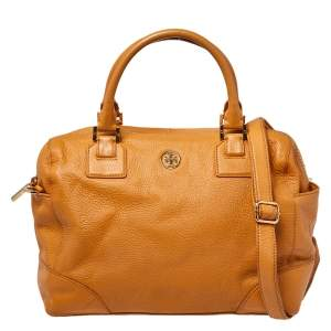 Tory Burch Mustard Leather Robinson Boston Bag
