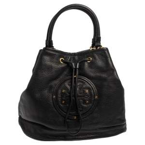 Tory Burch Black Leather Maisey Shopper Tote