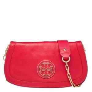 Tory Burch Red Leather Britten Crossbody Bag