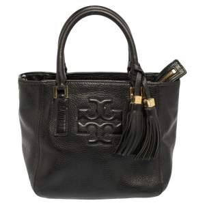 Tory Burch Black Leather Thea Tote