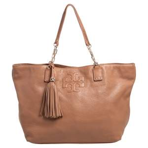 Tory Burch Brown Leather Large Thea Tote