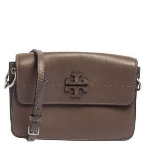 Tory Burch Brown Leather McGraw Crossbody bag