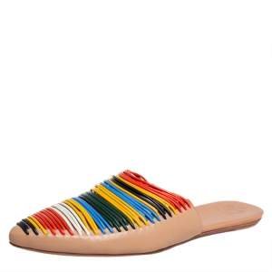 Tory Burch Multicolor Leather Sienna Mule Sandals Size 39