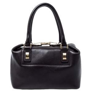 Trussardi Dark Brown Leather Satchel