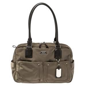 Tumi Khaki Green Nylon Voyageur Geneva Carry All Bag