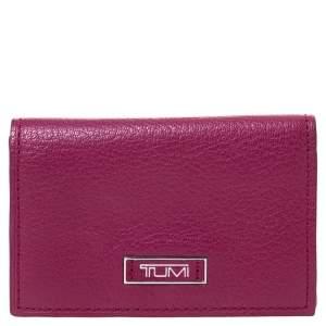 Tumi Fuchsia Leather Card Holder