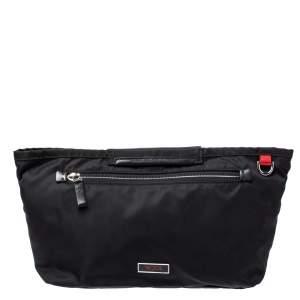 Tumi Black Nylon Zip Pocket Travel Clutch