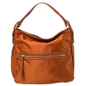 Tumi Orange Nylon Ashley Hobo