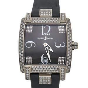Ulysse Nardin Gray Diamond 18K White Gold Caprice 130-91AC/609 Women's Wristwatch 34 x 35 MM