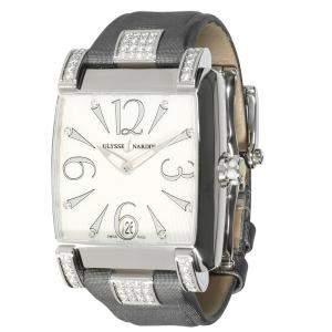 Ulysse Nardin White Diamonds Stainless Steel Caprice 133-91 Women's Wristwatch 33.5 MM