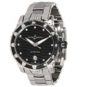 Ulysse Nardin Black Diamonds Stainless Steel Lady Diver 8153-180E-7C/12 Women's Wristwatch 40 MM
