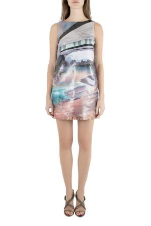 Mary Katrantzou Multicolor Lurex Insert Jacquard Desert Walker Sleeveless Lupin Dress S