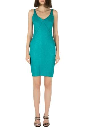 Zac Posen Emerald Green Snakeskin Jacquard Sleeveless Shift Dress S