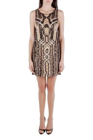 Diane Von Furstenberg Metallic Macramé Lace Sleeveless Neapoli Dress M