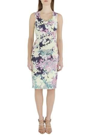 Erdem Multicolor Floral Print Cotton Blend Sleeveless Trina Sheath Dress S