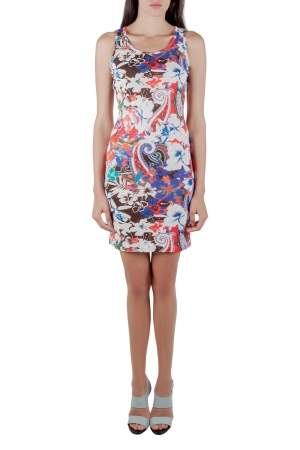 Etro Multicolor Tropical Print Crepe Sleeveless Tank Dress S