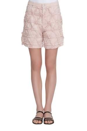Isabel Marant Pink Frayed Stretch Denim Gustave Shorts L