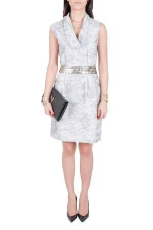 J Mendel Grey Cotton Waist Embellished Cocktail Dress M