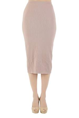 Jonathan Simkhai Blush Pink Textured Intarsia Knit Midi Pencil Skirt XS