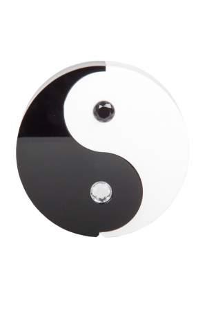 Charlotte Olympia Black/White Plexiglass Yin Yang Clutch