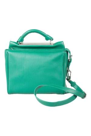 3.1 Philip Lim Green Leather Ryder Top Handle Bag