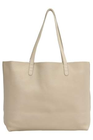 Mansur Gavriel Beige/Sand Tumble Leather Large Tote