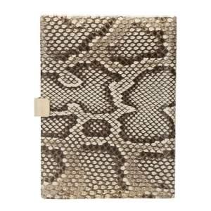 Smythson Beige Python Soho Clutch