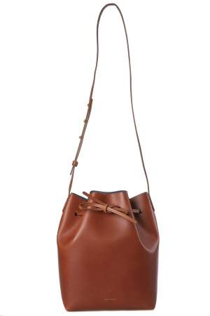 Mansur Gavriel Brandy Leather Bucket Bag