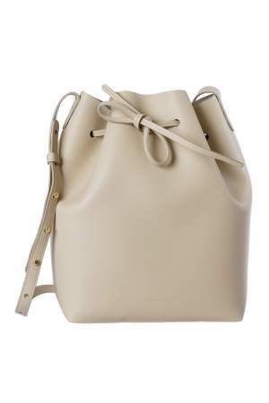Mansur Gavriel Beige Leather Bucket Bag