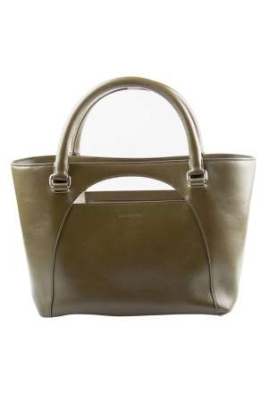 J.W Anderson Olive Leather Medium Moon Tote