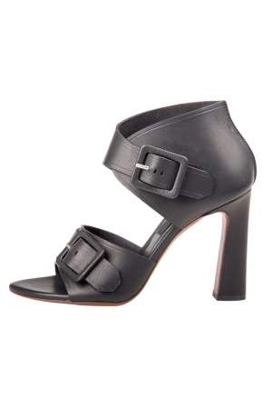 Proenza Schouler Black Leather Buckle Detail Sandals Size 36