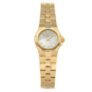 Vacheron Constantin MOP Diamonds 18K Yellow Gold Overseas 16050/423J-8885 Women's Wristwatch 24.5 MM