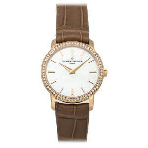 Vacheron Constantin MOP Diamonds 18K Rose Gold Traditionnelle 25558/000R-B156 Women's Wristwatch 30 MM