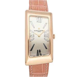 Vacheron Constantin Silver 18K Rose Gold 1972 Asymmetric 25010/000R-9121 Women's Wristwatch 22.5 x 40 MM