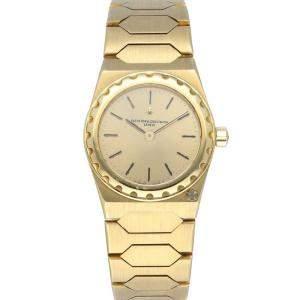 Vacheron Constantin Champagne 18K Yellow Gold 222 Women's Wristwatch 24 MM