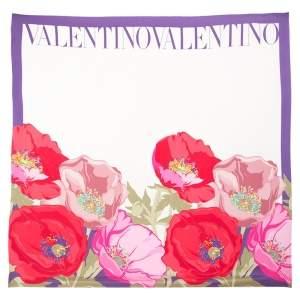 Valentino Multicolor Printed Silk Shawl