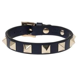 Valentino Blue Leather Leather Rockstud Bracelet
