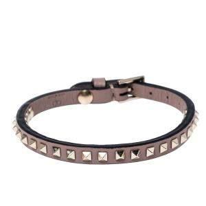 Valentino Poudre Leather Rockstud No Limit Bracelet