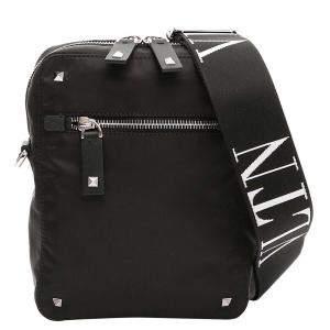 Valentino Black Nylon VLTN Garavani Bag
