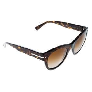 Valentino Brown Tortoise/Brown Gradient VA4020 Round Wayfarer Sunglasses