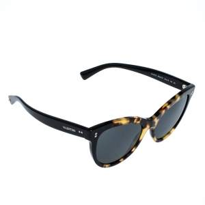 Valentino Brown Havana/ Smoke Grey VA4013 Cat Eye Sunglasses