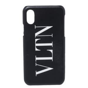 Valentino Black Rubber VLTN iPhone X Cover