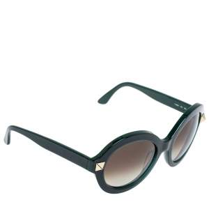 Valentino Green/ Brown Gradient Rockstud V 696S Round Sunglasses