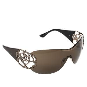 Valentino Brown 5624/S Crystal Embellished Shield Sunglasses