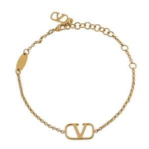 Valentino VLogo Signature Gold Tone Bracelet
