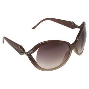 Valentino Brown Acetate 5692S Gradient Oversized Sunglasses