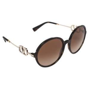 Valentino Brown Acetate VA4075 Gradient Round Sunglasses