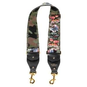 Valentino Multicolor Camu Butterfly Guitar Bag Strap
