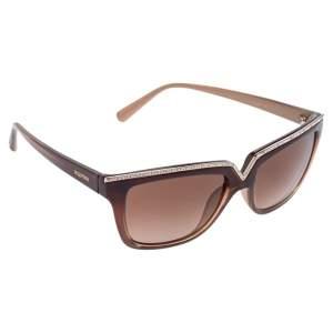 Valentino Brown/ Brown Gradient V646SR Rectangle Sunglasses