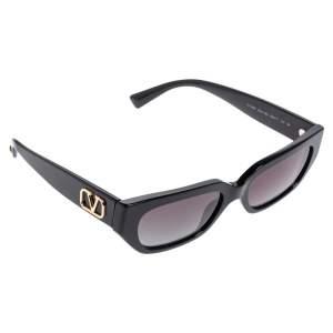 Valentino Black Acetate VA4080 VLogo Gradient Rectangular Sunglasses